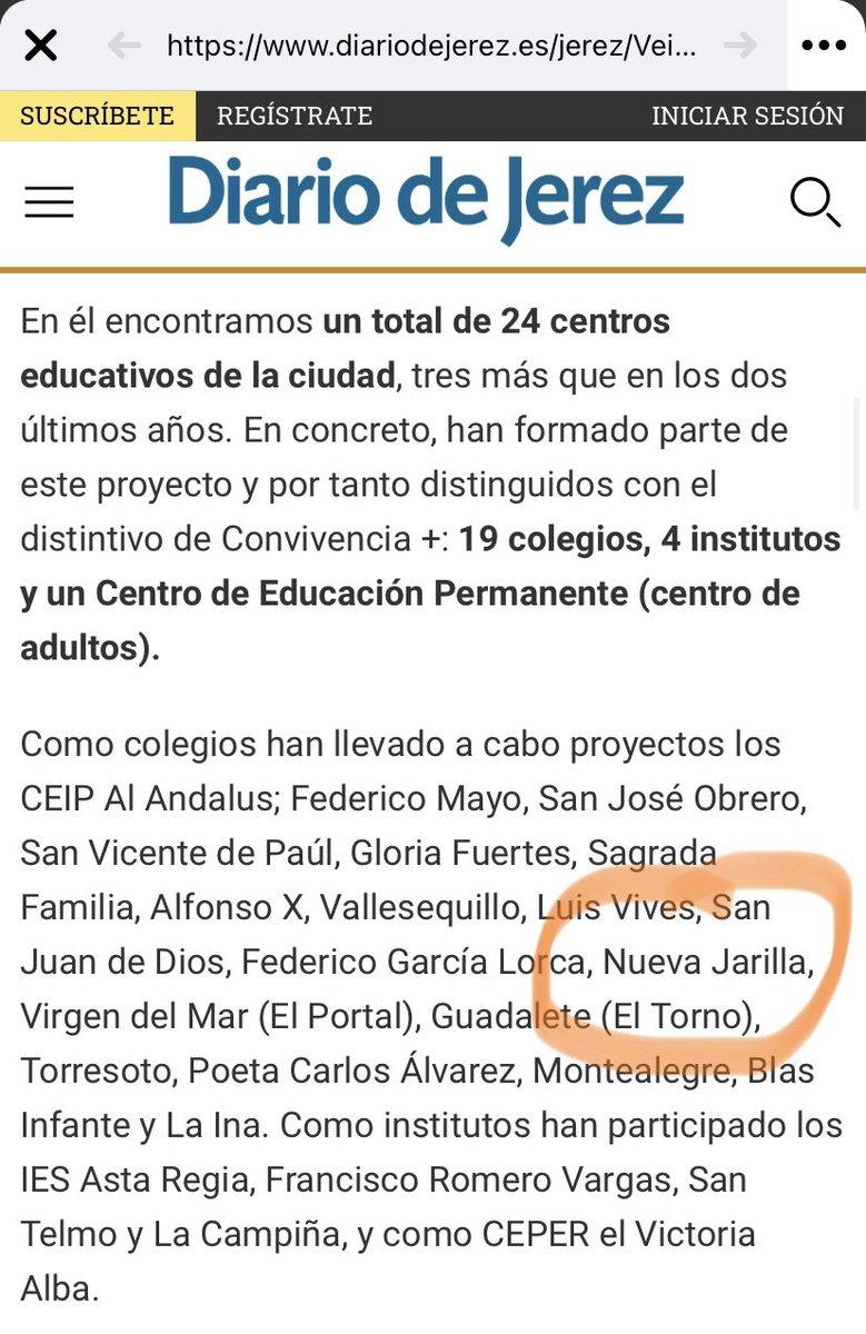 """Hoy el @CeipNueva sale en el @diariovivajerez @ciudadjerez porque es uno de los colegios que mayor puntuación han conseguido en """"Convivencia Positiva"""". Excelente trabajo hecho en equipo, seguido de cerquita por Lola y liderado por nuestro compi Quini. 😊🌍💚🌱 https://t.co/Is2NOjzFno"""
