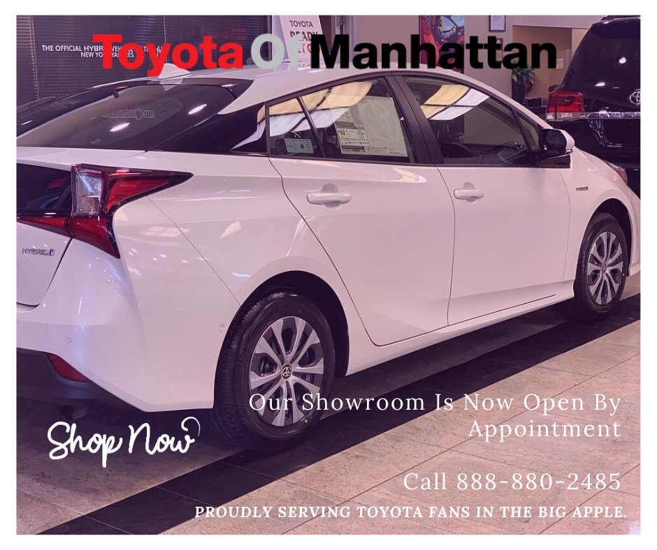 Make an appointment and come in to choose your favorite vehicle! Ask about our specials! Schedule an appointment online https://t.co/7RFlun3q7h or call 888-880-2485. #toyotaofmanhattan #toyota #manhattan #brooklyn #carsales #cars #carswithoutlimits #itsyourtime https://t.co/QK4asHthDv