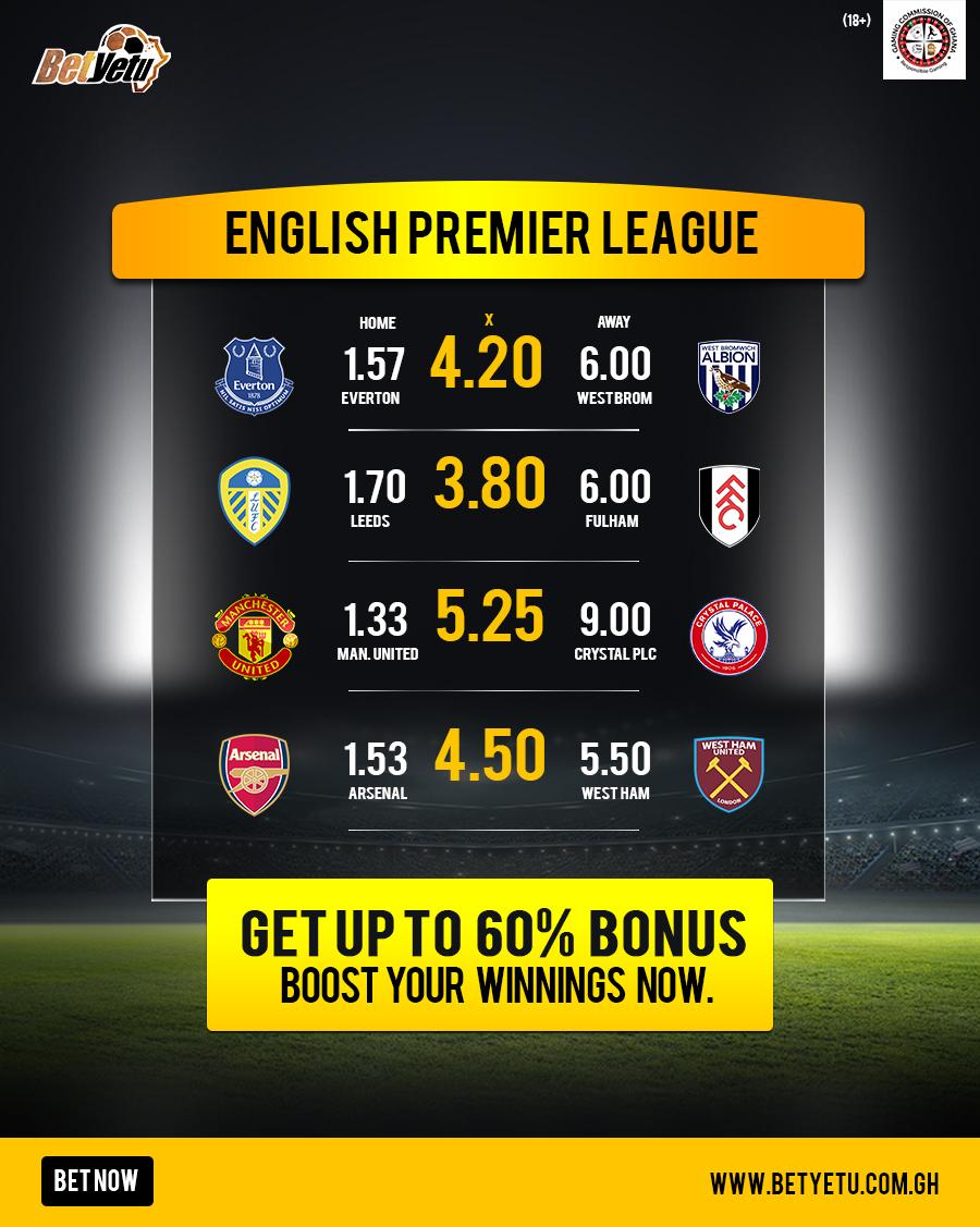 English Premier League! Manchester United and Arsenal begin the 2020/2021 EPL season today!  Bet now Play here👉 https://t.co/rceiYva7DR Join here👉 https://t.co/LrV7avrm0G  #Betyetu #EPL #MUFC #Jordan #Arsenal #Aubameyang #Neymar #Mbappe #Dortmund #PSG #Ronaldo https://t.co/GUC8S7q0OZ