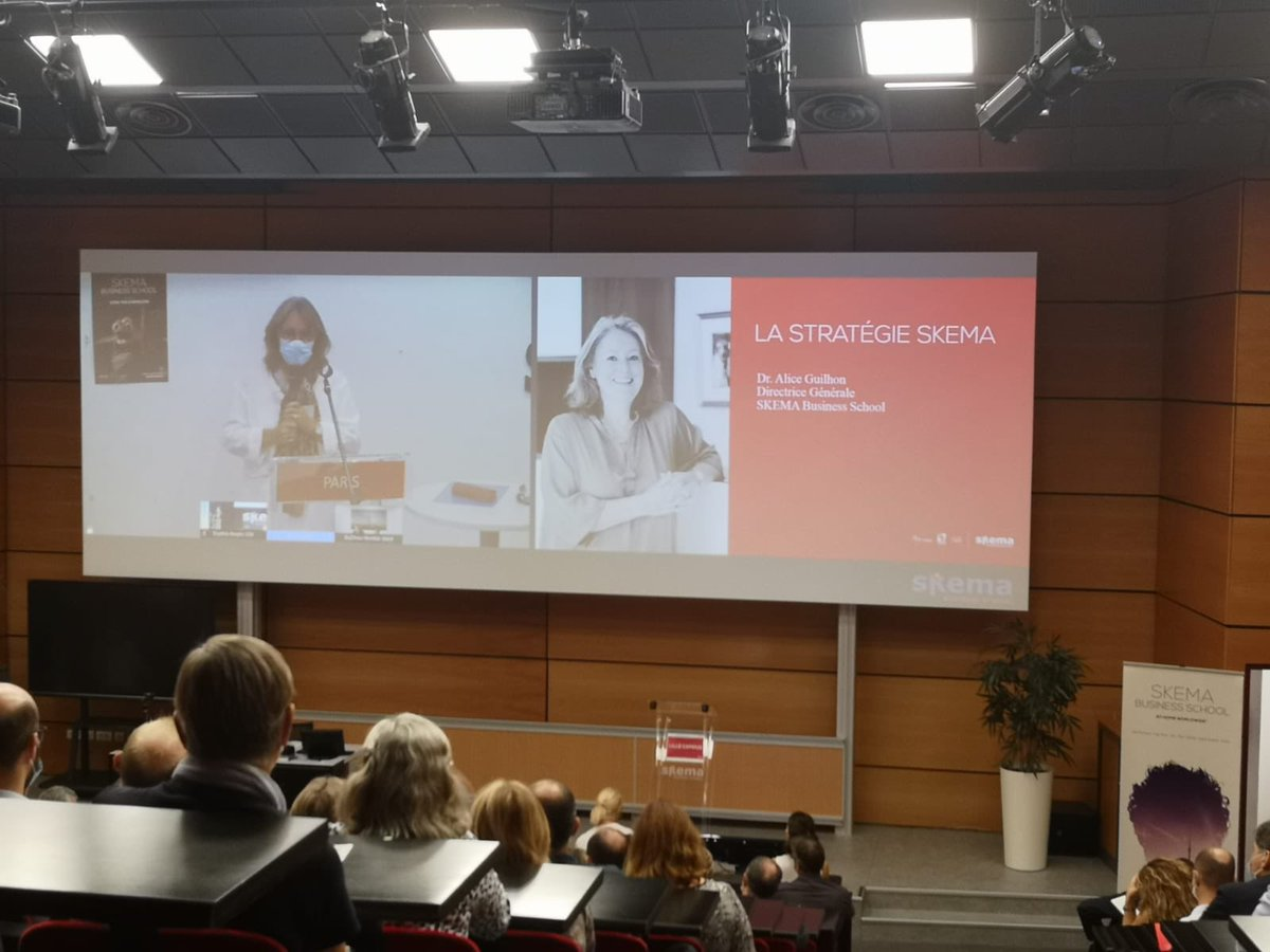 Alice Guilhon, Dean #SKEMA, présente la stratégie de notre business School et le plan stratégique #SKEMAsky25, ambitieux et disruptif. Plus d'infos : https://t.co/llIlENI8IG https://t.co/IWJbVzcat4