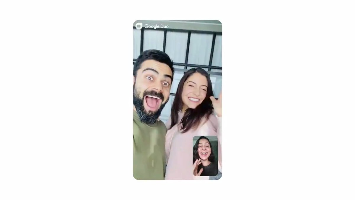 """From your best friend's birthday to """"Hello ma, I got out of bed on Sunday."""" 🤭  With Google Duo, spend every moment together, even while you stay apart 🥰"""