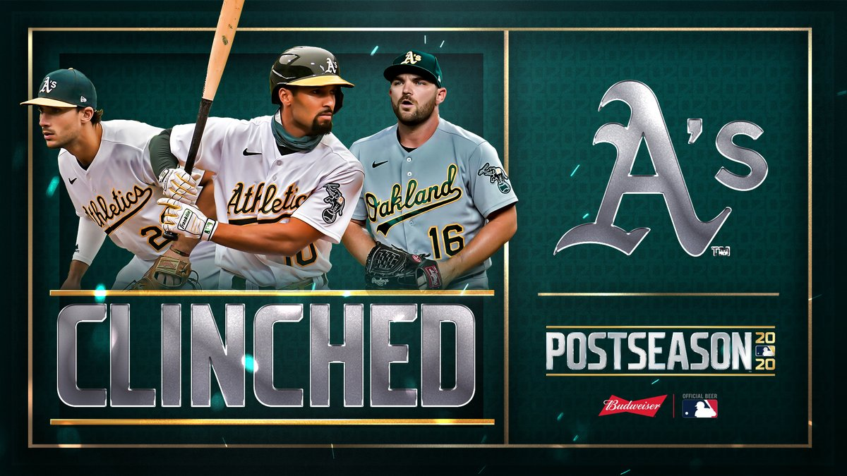 For the 3rd straight year, the @Athletics are headed to the #postseason! #CLINCHED