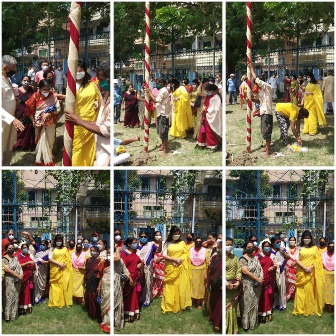 Khuti Pujo of New Alipore Sarbojonin Durgotsab Samity, 2020 at New Alipore Children's Park, O Block on the auspicious morning of Mahalaya. https://t.co/E7SMrDWWM5