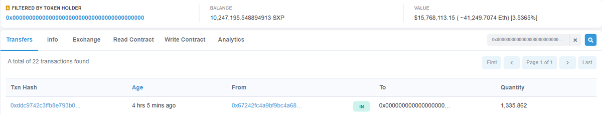 #SXP Burn - Day 1, we are just getting started here !!  #Swipe $SXP @JLSwipe #Binance $BNB https://t.co/zZR75GMCRy https://t.co/0WTQE8McsK