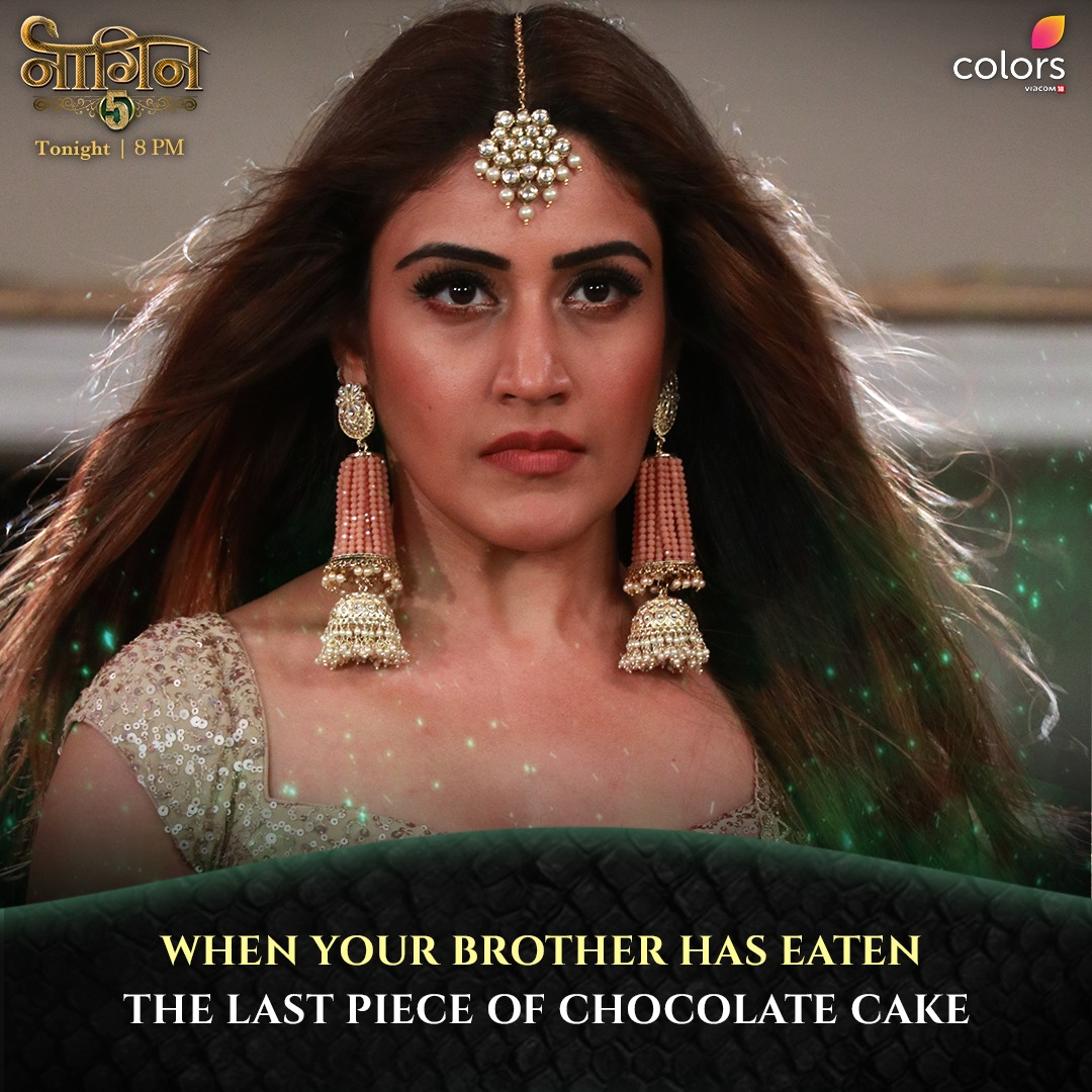 Tag your LOVING sibling in the comments and watch #Naagin5, tonight at 8 PM, only on #Colors. 😂 Anytime on @justvoot    @SurbhiChandna https://t.co/lV1lQxhIQt
