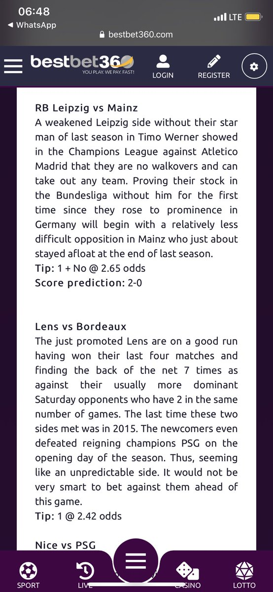 Will Dortmund overcome a resurgent Monchengladbach? Will PSG bounce back to a routine victory in Ligue 1? Click here https://t.co/MLnfhLQHA8 to see more of my predictions in my debut episode for this season! Here we go! 😅 @BestBet360 👌🏾 https://t.co/PdPOVwPAc3