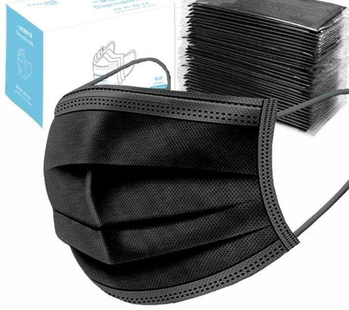 Black 50 pack of Face Masks for $16.88! amzn.to/2YpxLzI *Fast Prime Delivery*