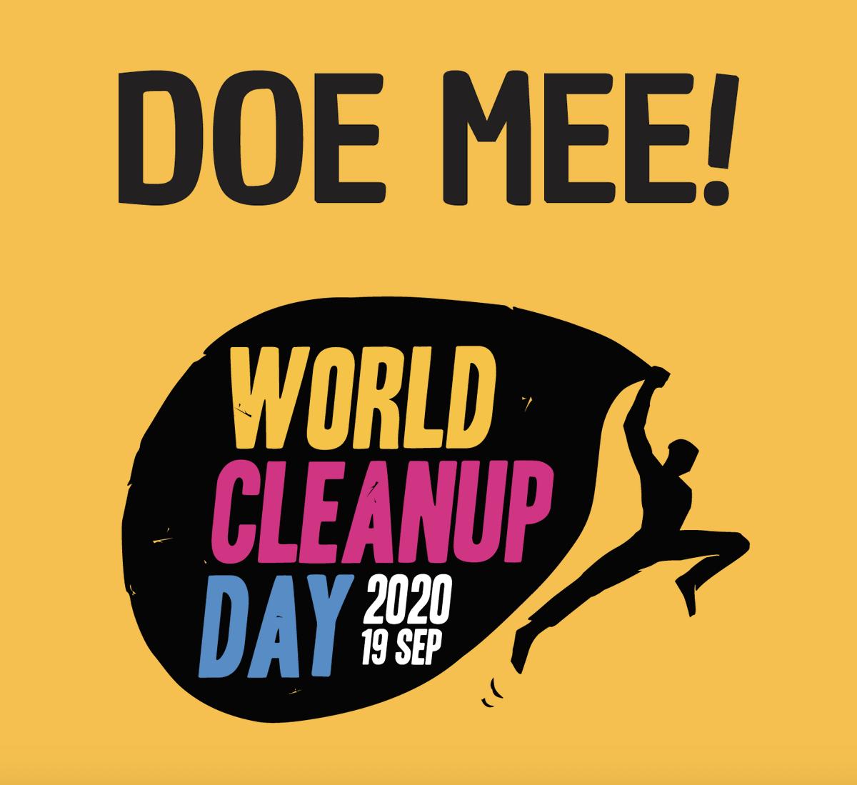 ♻️🥤| Ben jij klaar voor World Cleanup Day? Vandaag is het al zover! Je kunt je nu nog aanmelden via https://t.co/P674xmZ762. #zwerfafval #omrin #worldcleanupday2020 #plasticsoup #opruimactie https://t.co/6WgJL2e6Dc