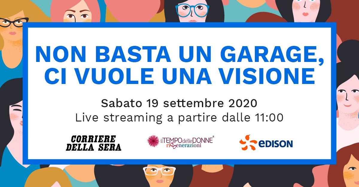 Siamo pronti per seguire lo streaming del #TempodelleDonne insieme al @Corriere. L'appuntamento di oggi sarà un talk in cui svariate personalità di spicco racconteranno la loro #visione del #futuro. #TDD2020 https://t.co/WVvMI6Czg1