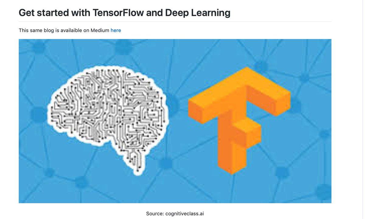 Deep Learning with #TensorFlow. #BigData #Analytics #DataScience #AI #MachineLearning #IoT #IIoT #PyTorch #Python #RStats #Java #JavaScript #ReactJS #GoLang #CloudComputing #Serverless #DataScientist #Linux #Programming #Coding #100DaysofCode  https://t.co/Bei4b5PmXl https://t.co/8gSNTJ8hSv