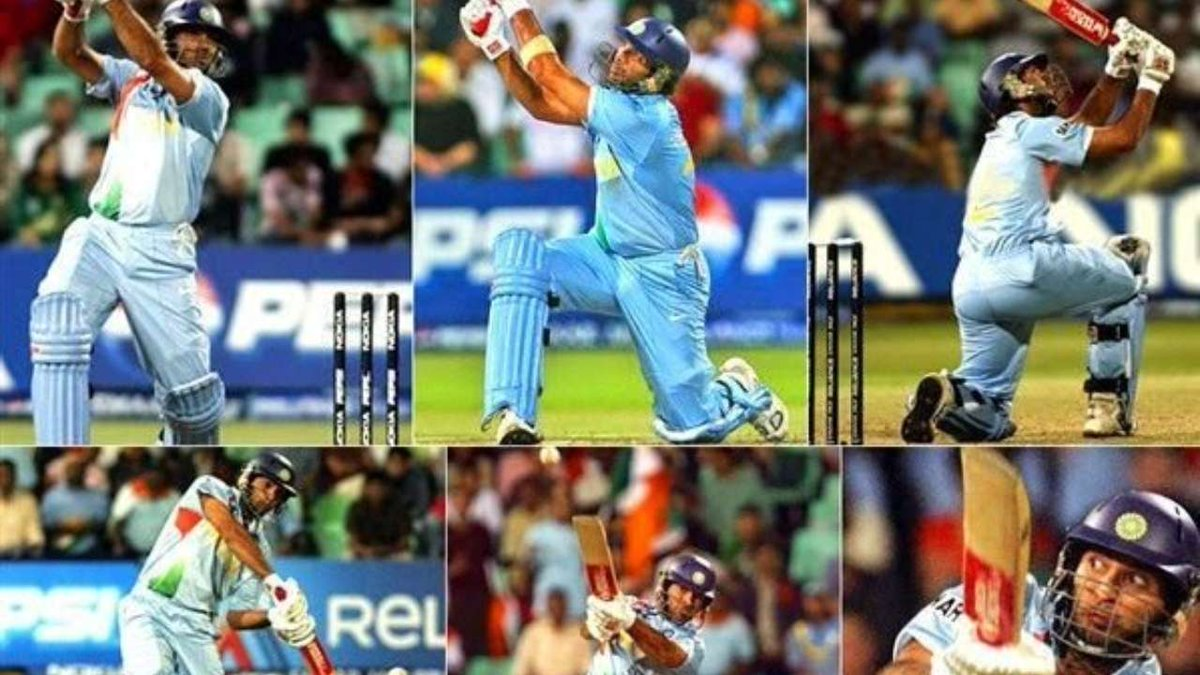 On this day! (2OO7)🚩  @YUVSTRONG12 (Yuvi) Smashed 💥 6Ball - 6Sixes in an over! Against @englandcricket in @StuartBroad8 bowling!!  #ThrowbackMoment #YuvrajSingh #IndianCricket @BCCI https://t.co/BMg6f21eOf