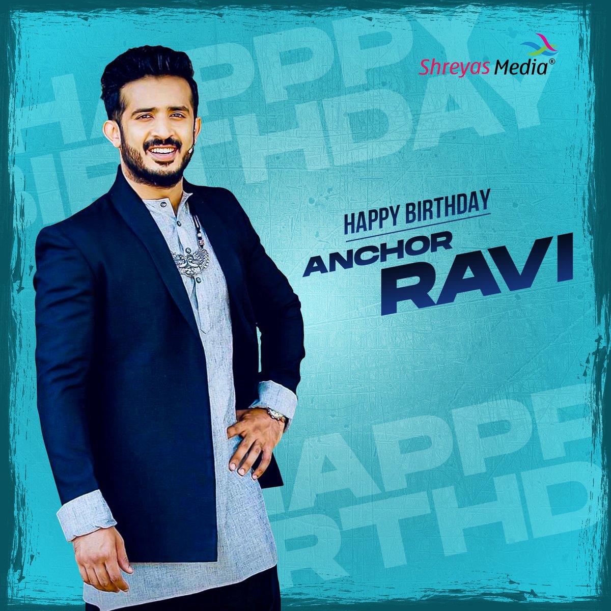 Happy Birthday to #AnchorRavi   @anchorravi_offl  #ShreyasMedia #ShreyasGroup https://t.co/uYbrYDDy7l