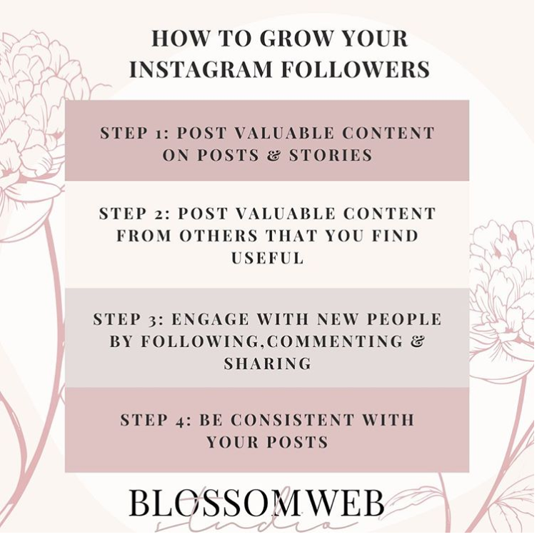Grow your Instagram followers with these simple tips  #newbusinesstips #instagram #instagood #instamood #instatips #newbusinessowner #businesstips #womenentrepreneurs #womensupportingwomen #womeninbusiness #womeninspiringwomen #women #enterpreneur #blossomwebstudio @Divieyasingh https://t.co/rHjTJM7ULv