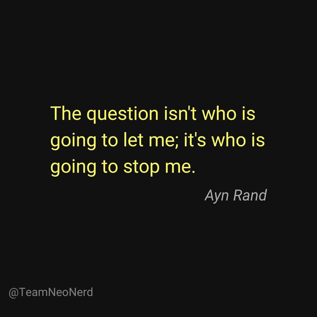 The Fountainhead . . . . . #aynrand #thefountainhead #novel #quotes #quotestagram #instadaily #instagood #selfesteem #freewill #happpiness #values #ambition #benevolent #universe #premise #selflove #selfishness #productive #independence #individualism #saturdaymood #saturday… https://t.co/gDYpusoEvj
