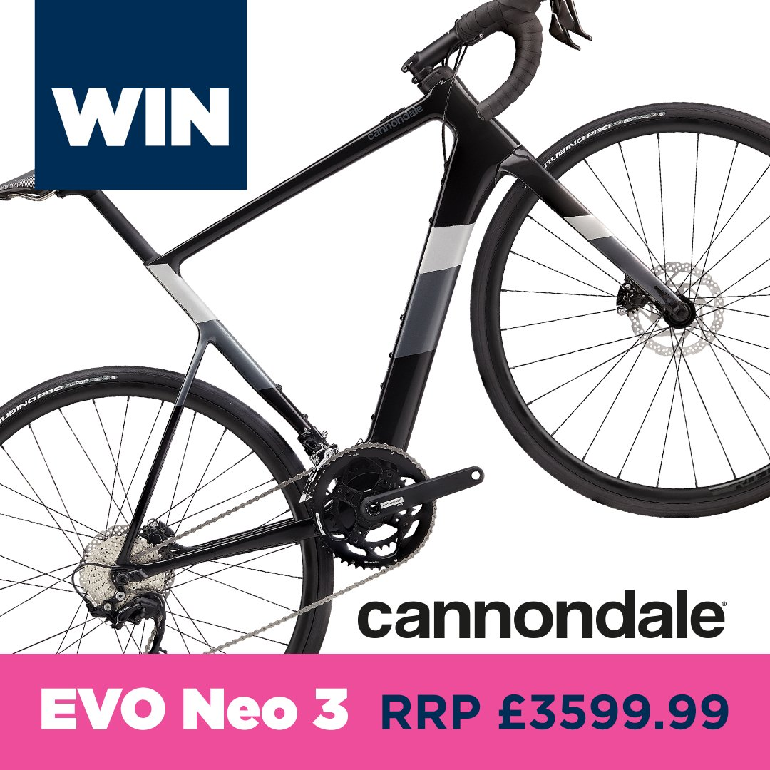 ❗️ ❗️ This is your chance to win a  2021 Cannondale EVO Neo 3 RRP £3,599.99 ❗️ ❗️  https://t.co/aRvWSw33So https://t.co/ZKvmF8Y3nQ