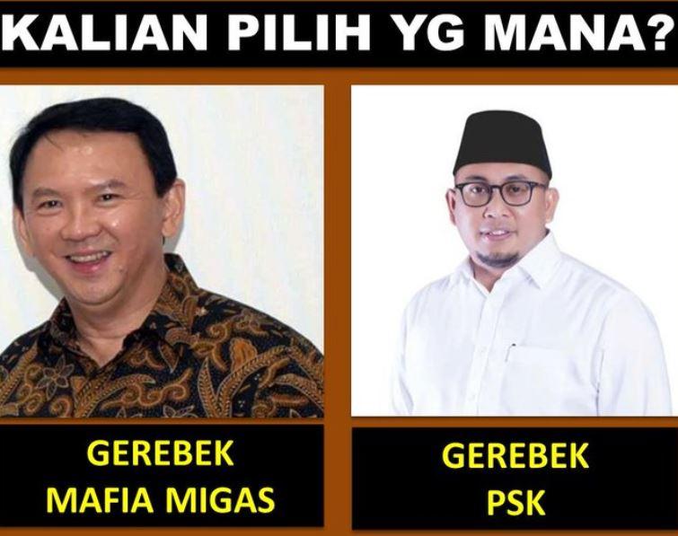 Sama-sama penggrebek kalian pilih mane....?  Mafia migas : RT PSK : like  Pembongkar koruptor tinggal suruh Ahok tuk bicara. https://t.co/OxRAsyq1Rp