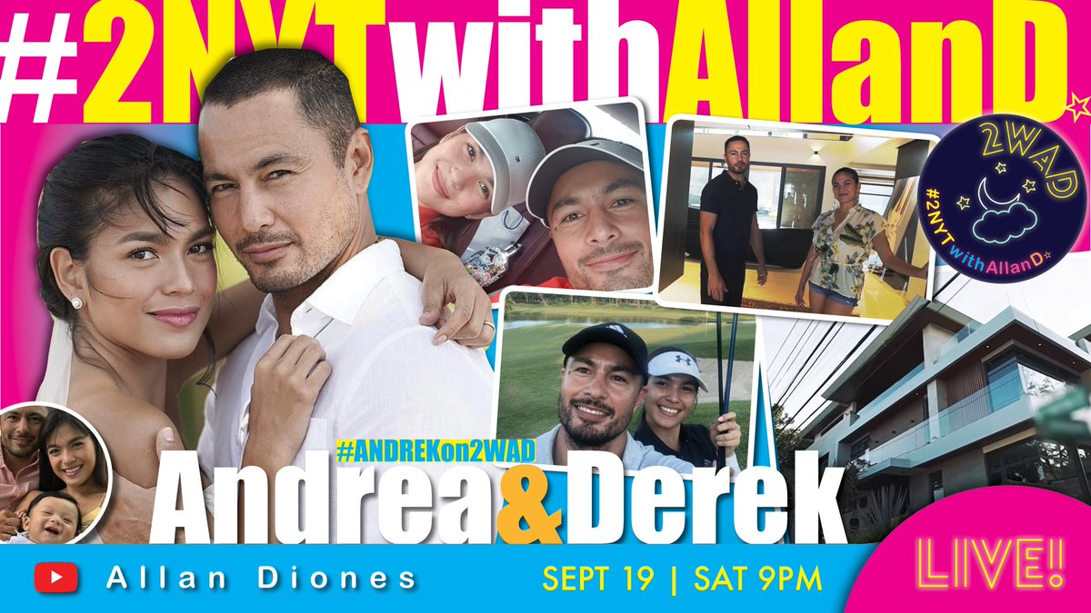 See you 2NYT, guysh!! 😘  @andreaetorres & @kingderekramsay  LIVE! on #2NYTwithAllanD 🌙 #2WAD  #ANDREKon2WAD ♥️ Sept 19 | Sat 9PM  Allan Diones YouTube Channel ▶️  Kitakits!! 🙌🏼 https://t.co/3087rr3eYo