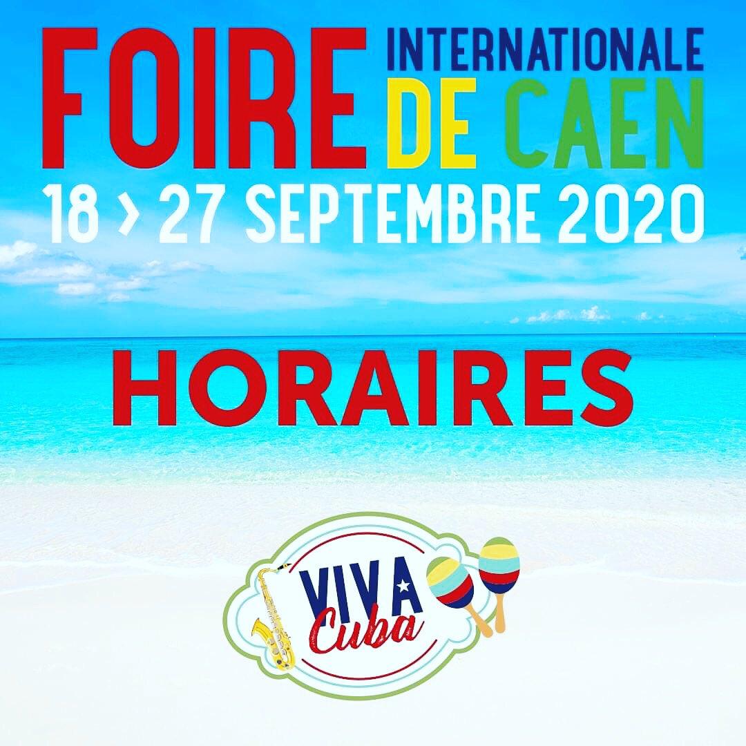 Une belle journée s'annonce à la #FoiredeCaen...   Les portes de la Foire ouvriront à 10h ce matin, et ce soir, c'est nocturne. Rendez-vous jusqu'à 22h.   #FoiredeCaen #cuba #samedi #nocturne https://t.co/9LheK4HMKR