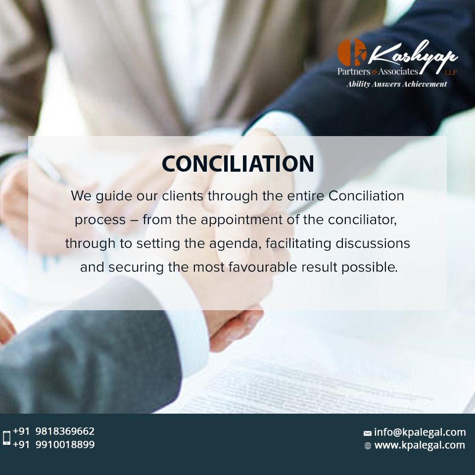 At @KashyapPartners, we navigate our client smoothly through the Conciliation process; from appointing a conciliator, to setting an agenda, enabling negotiations & ending with a result in favour of the client.  #Conciliation #AlternativeDisputeResolution #kpalegal https://t.co/4VoUv9XqHW