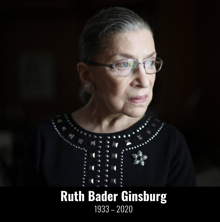 """""""Women belong in all places where decisions are being made"""".         -Justice Ruth Bader Ginsburg #RuthBaderGinburg #RIPRBG #RestInPowerRBG https://t.co/cxElLs4yxc"""