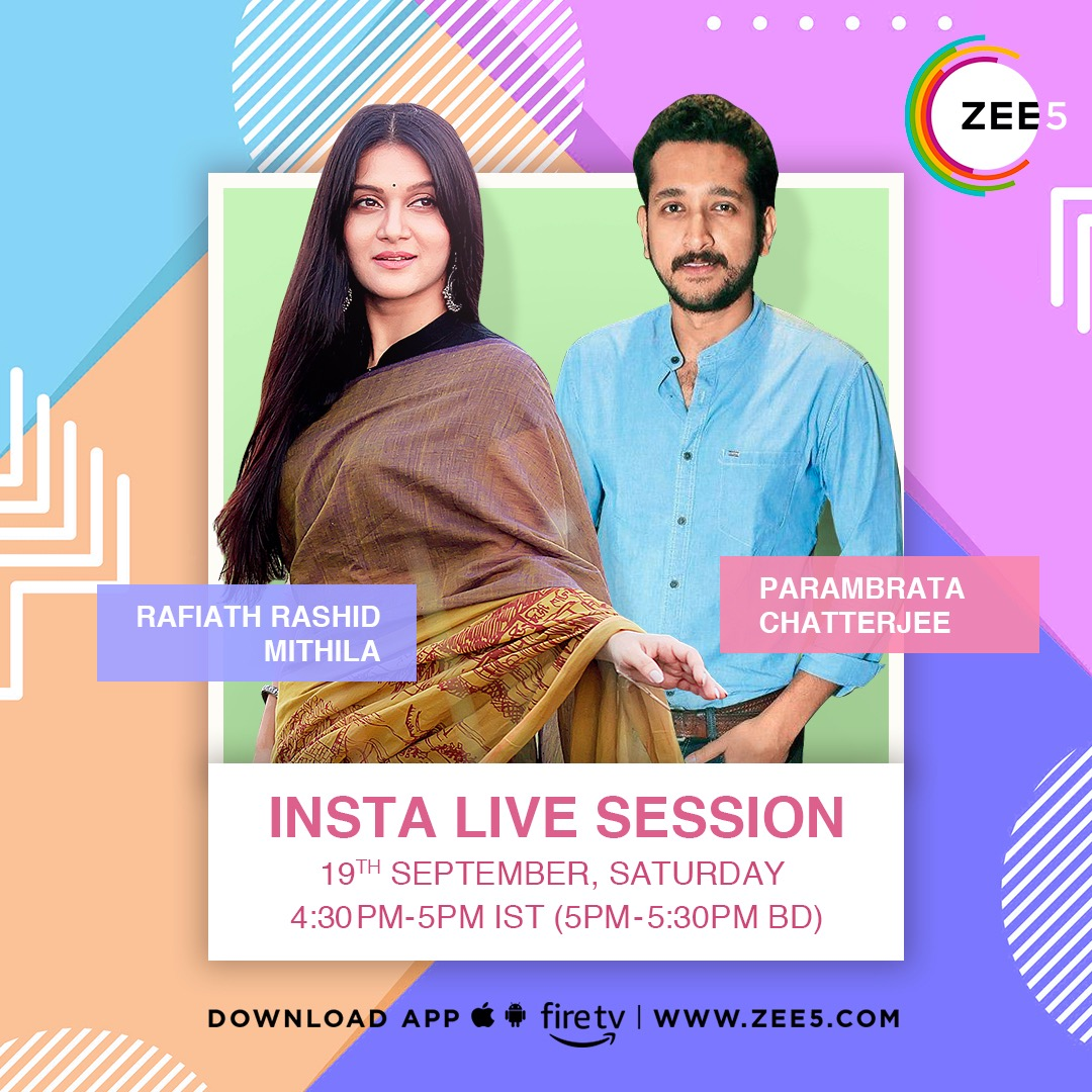 Insta-live adda with @paramspeak today at 4:30pm IST/5pm BDT!  @ZEE5BD @ZEE5APAC https://t.co/5Rox553gUd