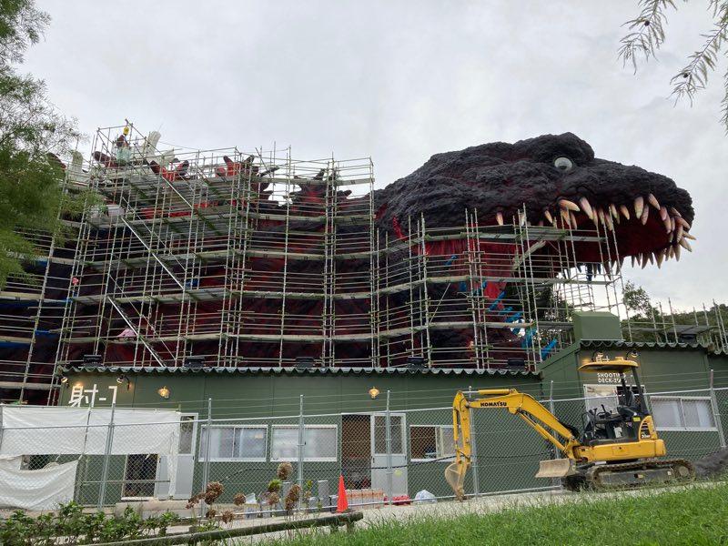 淡路島公園に来たらゴジラ建設中でした