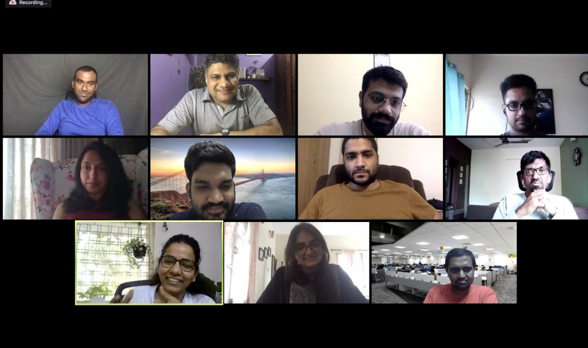 1st volunteer all-hands meet - check! 🙌  Always amazing to connect with people who can do extraordinary things in #SaaS.  cc: @ashwing @avinashraghava @gouthami_k @cbkrish @tmatthewj @nivasravi @sadhanabalaji @sangeeta_bavi @v_sathya07 @srikrishnang @Tarun_Davuluri @TheyCallMeVT https://t.co/K6Ol3CpNGk