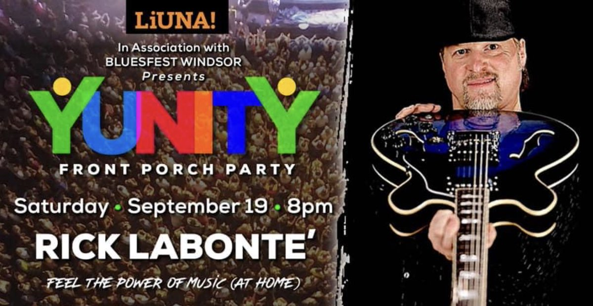 test Twitter Media - TONIGHT! 8 p.m.   Another great event with @blueswindsor @liuna625  Kudos to Ambassador @Burrowsdrums & @liuna625 for all you do to support our community:  @rpetroni67   Rick Labonte has been a long time #YQG musician - check out the show tonight on YouTube Bluesfest channel. https://t.co/jToR2HU3SO