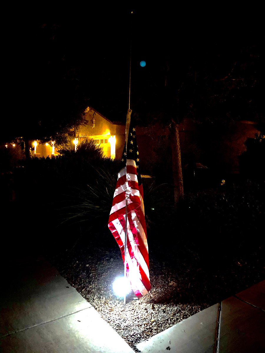 Before Going To Bed, I Put Out Our #AmericanFlag, And Lowered It To Half-Staff In #Honor Of #Late #SupremeCourtOfTheUnitedStates #AssociateJustice Joan #RuthBaderGinsburg. I #Will Keep #TheFlag #Displayed Until #She Is #Officially #Interred At #ArlingtonNationalCemetery. #RIPRBG! https://t.co/LqBdwsGCwv