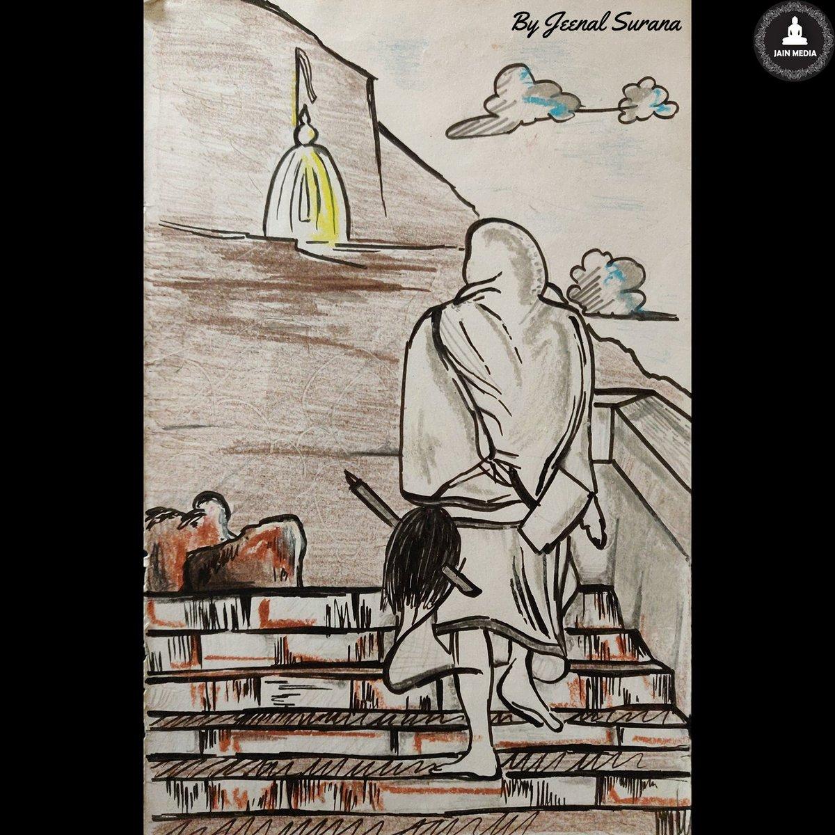 हमारे असली HERO, जिनशासन की धरोहर, जैन धर्म के सच्चे सैनिक - जैन साधु भगवंत 👏😇🙏 धन धन मुनिवरा 👏😇🙏 Art By - Jeenal Surana #jainism #jain #jainsadhu #JainMonk #jaindharm #Jainreligion #jainmedia