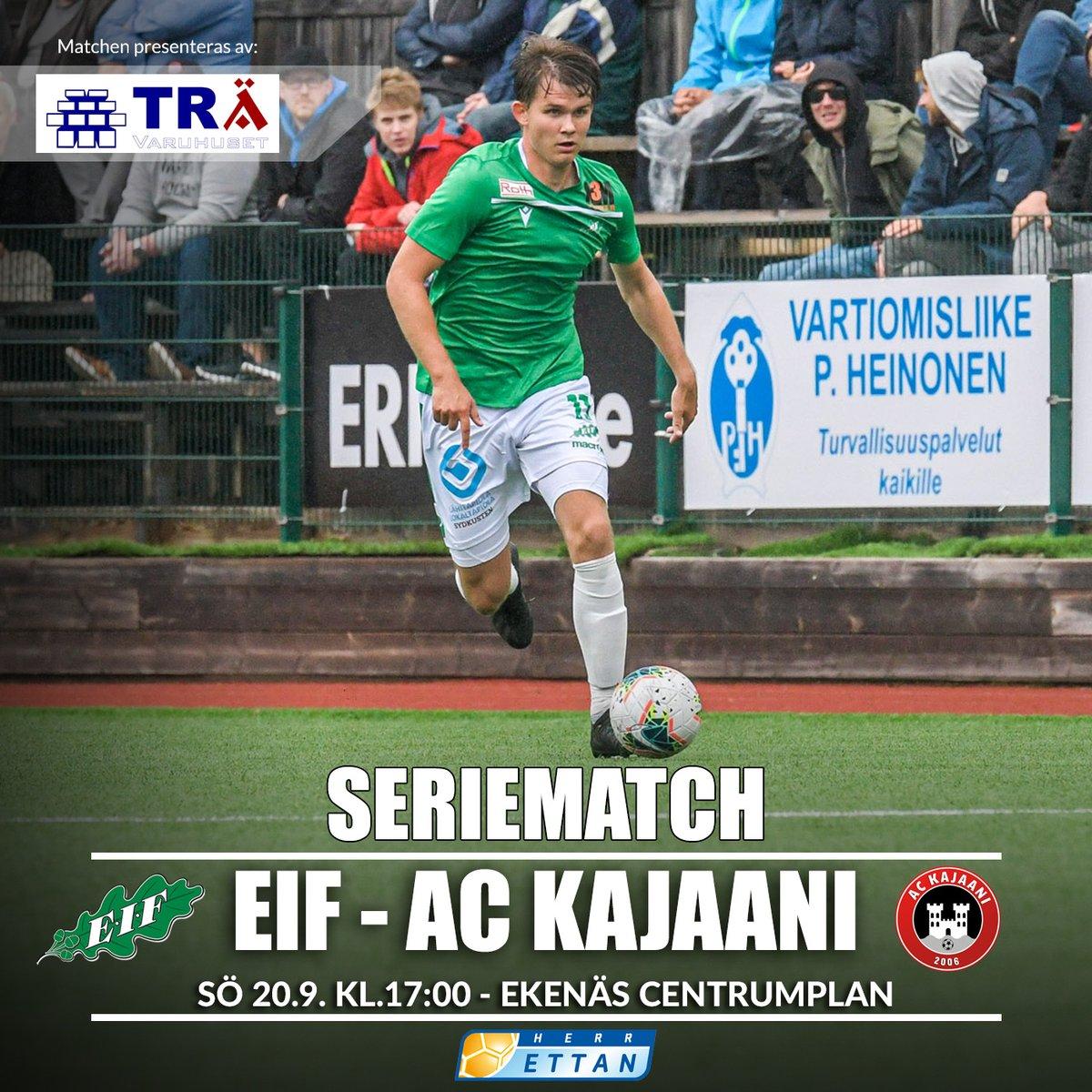 Herrlaget spelar imorgon hemmamatch igen!  📅 20.9.2020 🏟️ Ekenäs centrumplan ⏰ kl. 17:00 💚🤍💚🤍 https://t.co/khUypVUaZT