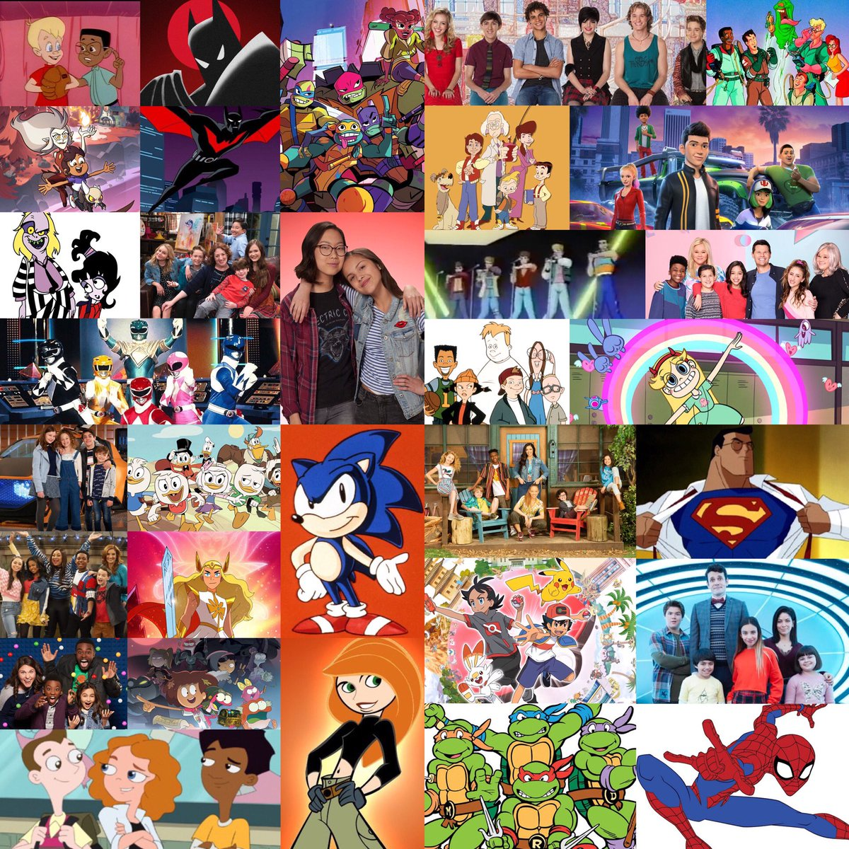 If you're watching some great TV on #SaturdayMorning, check out a collage of all your favorites past and present from your childhood one at a time.   Recognize any of 'em? 📺  @Marvel @WildBrainHQ @WBLooneyTunes @UniversalPics @tbirdent #cartoons #liveaction https://t.co/oU61XbhtPp