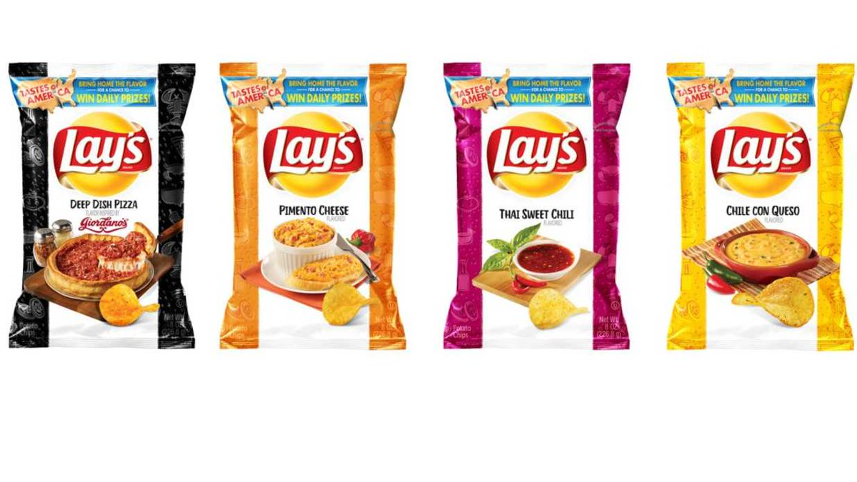 Lay's Introduces 8 New Potato Chip Flavors Inspired by 'Local.... #foodblogger #vegetables https://t.co/4Mx4ZL0LHs https://t.co/EWYglLx2dq
