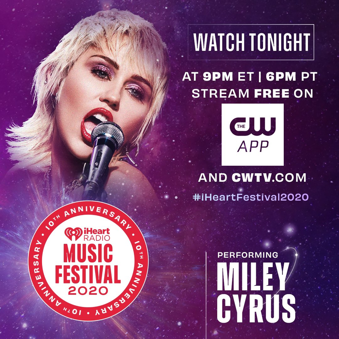 Excited to be a part of the 10th anniversary of the @iHeartRadio Music Festival. Watch my performance tonight starting at 9PM ET / 6PM PT on @TheCW app or by clicking here: https://t.co/OhXr7l2s3n https://t.co/kHE97bD4zD