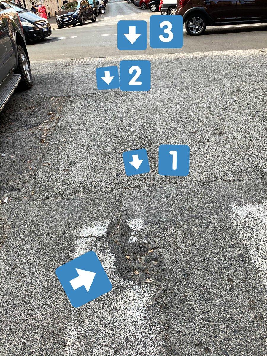 """@virginiaraggi """"Strade nuove"""" eh?! 😂Parliamo del rifacimento di via Enna (fine agosto 2020)? Strato su strato, ogni strato sempre più stretto, e delle buche sulle strisce 50 cm più in là chissenefrega. @LegaSalvini https://t.co/VCJijXevPx"""