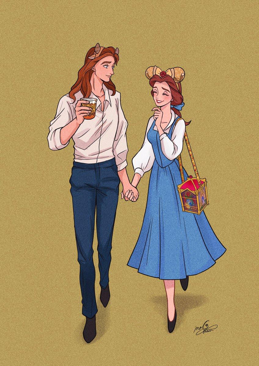 美女と野獣エリア楽しみ🥀✨アダムとベル、時々城から抜け出してデートして欲しい…