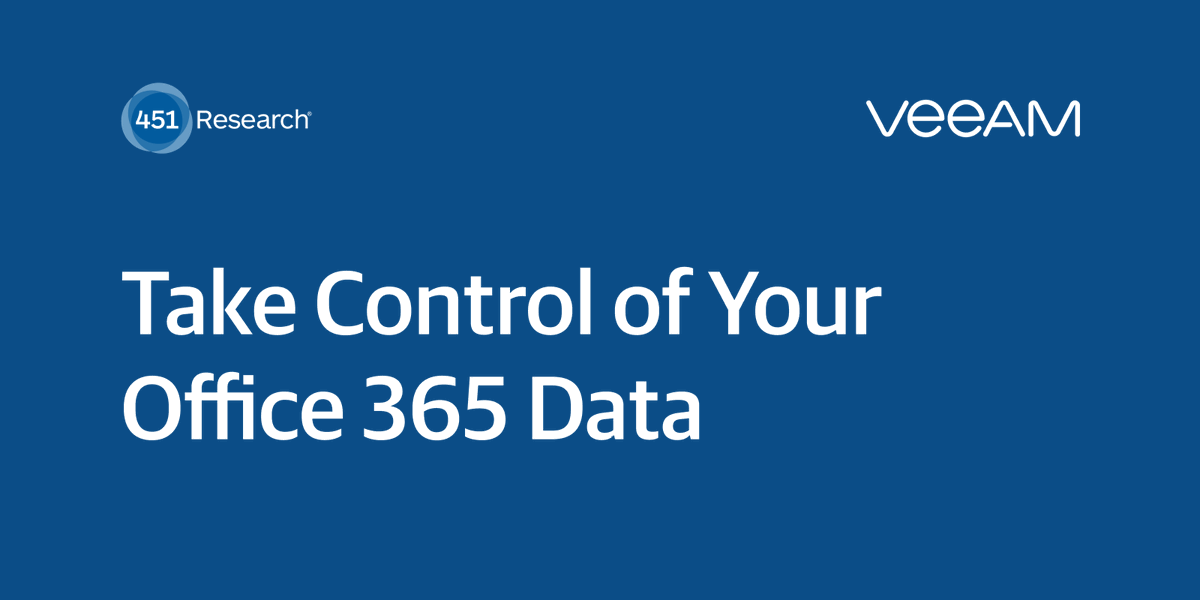 ⚠️There is a common misconception that #SaaS data is inherently safe. Get the new analyst report from 451 Research and learn why it's important to back up your #Office365 data >> https://t.co/tBI6LH2fuW https://t.co/MtgCENjXC3