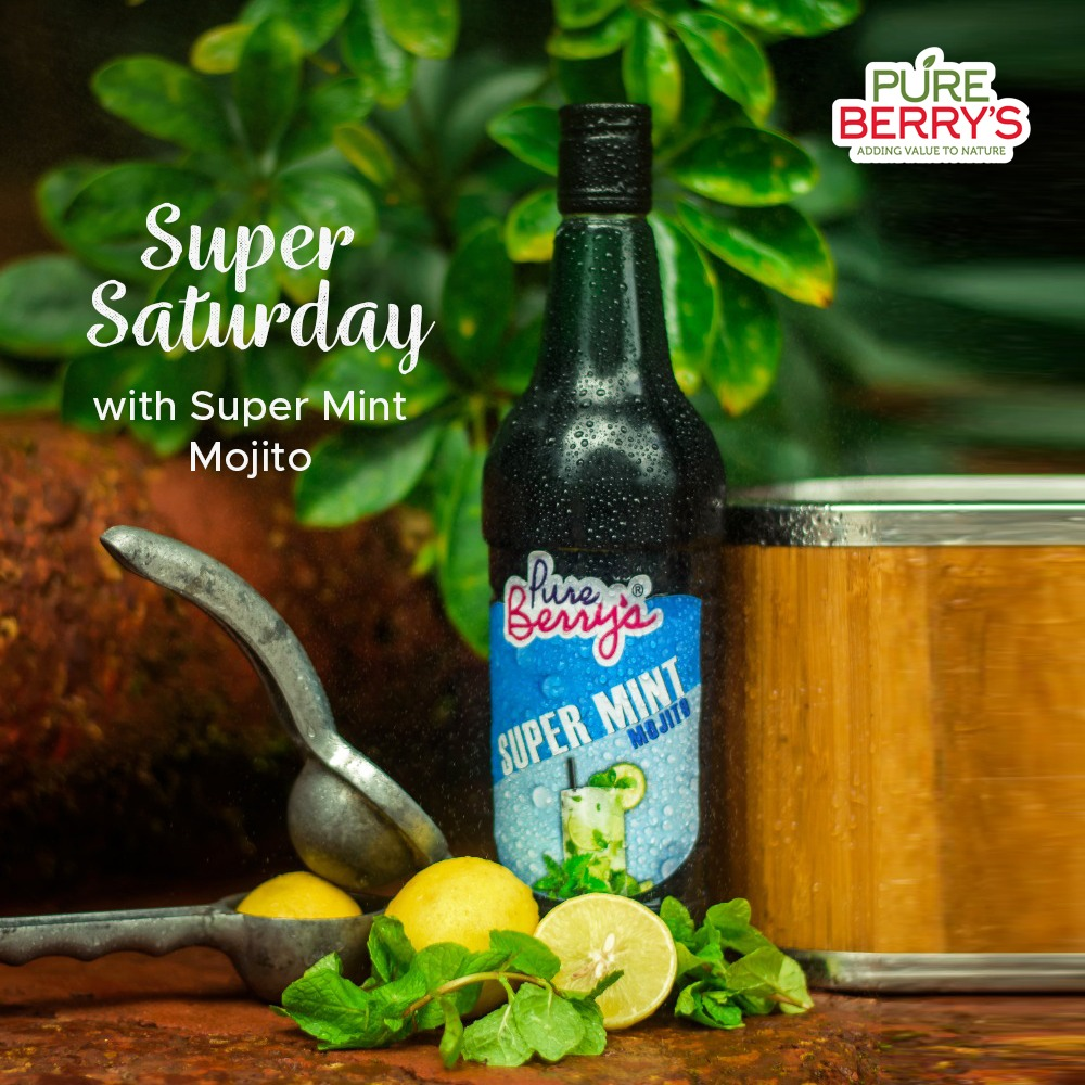#SuperSaturday Make your weekends more fun and refreshing with a hit of fresh mint! Enjoy a cooling glass of #PureBerrys super #mintmojito.  #puregold #paradisecafe #mahabaleshwar #panchgani #saturday #weekenfun #fruitcrushes #fruitjuice #supermint #mint #mojito #jamsandpreserves https://t.co/7HTXEIrm81
