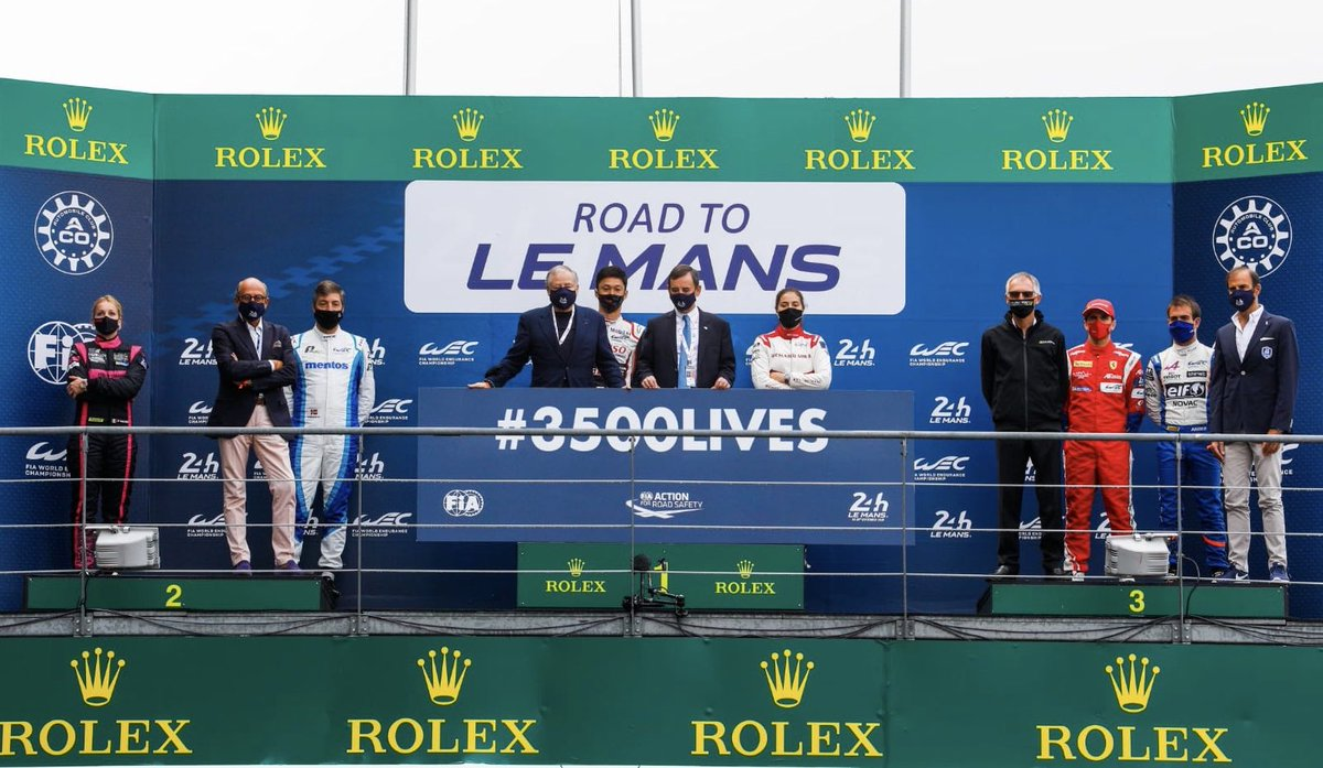 With the winners of the @24hoursoflemans 2019 and @Richard_Mille, @fillon_pierre & Carlos Tavares supporting the #3500LIVES @FIA Campaign for #RoadSafety  #WEC #24hUnited #LeMans24 https://t.co/OnO9Rk3ibL
