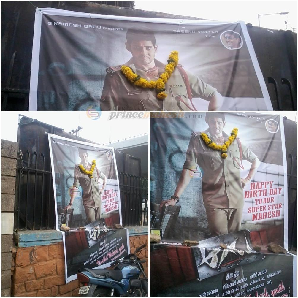 Flex by Visakha Mahesh Youth for Superstar Mahesh Birthday during #Aagadu time at Sangam Sarat Theater, Vizag !!! 👍🏻  Superstar @urstrulyMahesh !!   #6YearsForSuperMassAagadu #6YearsForAAGADU  #SarkaruVaariPaata https://t.co/kUFcf1GwHS