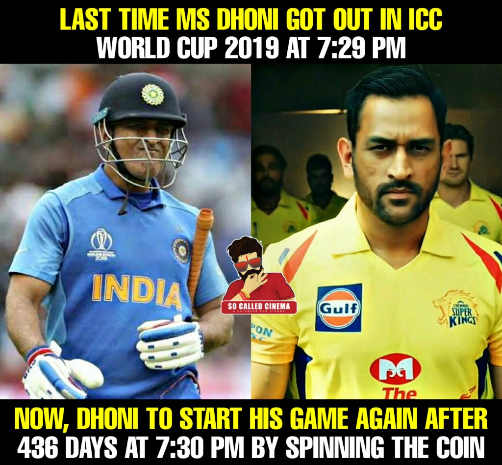 #MsDhoni #India #CSK #Cricket #IPL2020 #SoCalledCinema https://t.co/dU4PKoDQiS