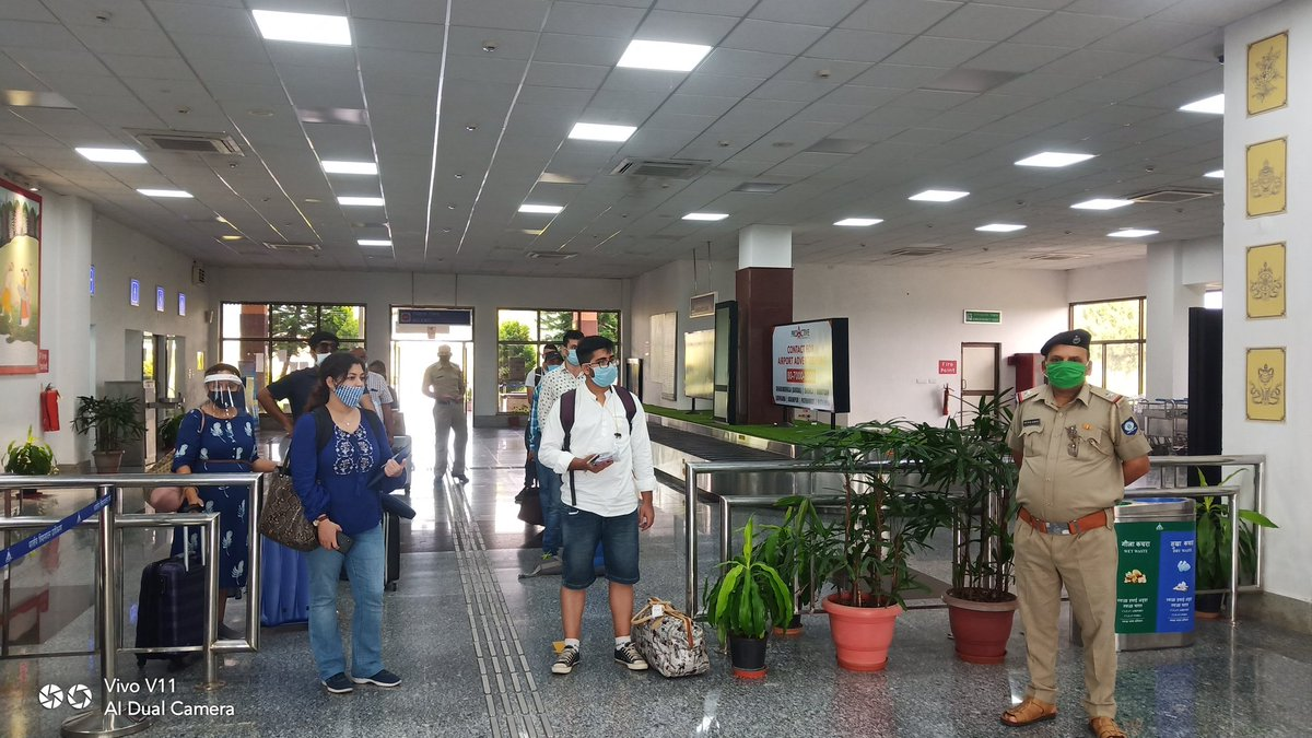 All safety health protocols maintained at Airport. Kangra Airport, Gaggal committed to provide safe and touch free environment for its passengers and staff @aaikangraairport @apdkangra # https://t.co/AKbxWdgBca