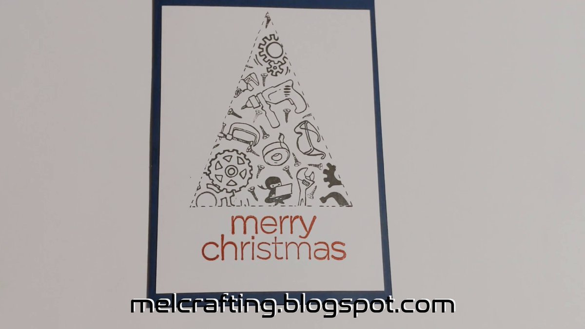 CAS christmas card - engineers tree| a masculaine card #cardmaking #christmas #card #CAS #engineer #tools #male #masculine #tree @CraftingMel #crafty  https://t.co/6wQZNuAFWq  https://t.co/A9V9XMeqfC https://t.co/3C8HvgAivg