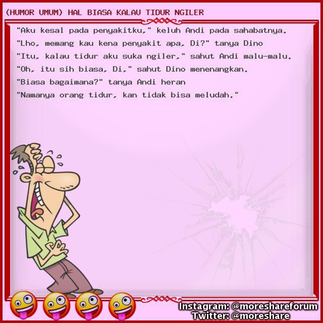 (HUMOR UMUM) HAL BIASA KALAU TIDUR NGILER - UPDATE TIAP HARI!!! Jangan kelewatan!!! lumayan dari pada lumanyun buat ngilangin BETE!!! wkwkwkwkw Follow us - #humorumum #cerita #lucuumum #humor #humor #lucu #humorgokil #koleksihumor #kumpulanhumor #humor #indonesia #ceritahumor #hu https://t.co/9QIGpzIAHW