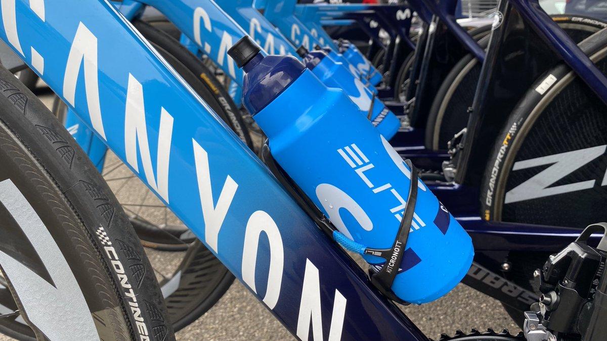 Setup ready for Saturday's #TDF2020 TT showdown:  🍼🔥 #eliteSUITO + TT bottle | @Elite_cycling  ⛑ #Gamechanger TT | @abus_es  🚲 #CanyonSpeedmax | @canyon_bikes   #RodamosJuntos Ⓜ️👊 https://t.co/chp8UziuSo