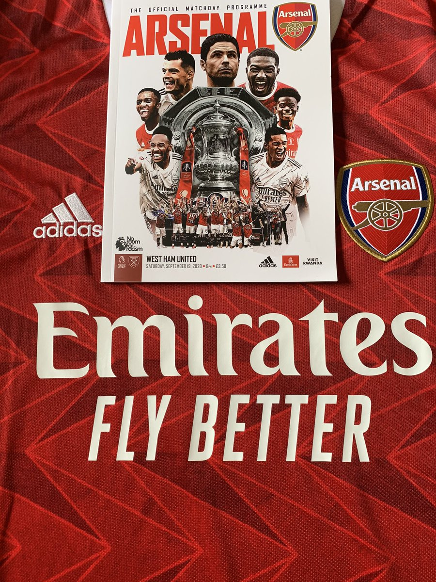 First @arsenal game of the season at the Emirates today. Gutted I can't be there in my season ticket seat in the North Bank, but Will be cheering the team on from home today let's hope for another win today #arsenal #afc #ARSWHU #northbank #emirates #flyemiratesflybetter #uta https://t.co/EQw7h2SvaA