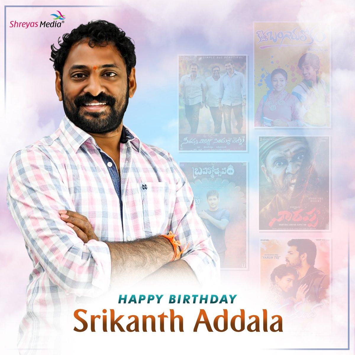 Happy Birthday #SrikanthAddala gaaru🎉 from #ShreyasMedia #Shreyasgroup https://t.co/izunm9vTEU