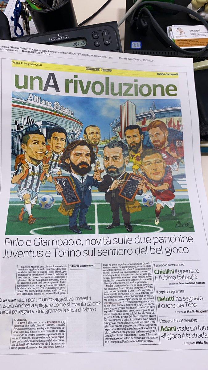 Riparte il campionato, la stagione. E qualcosa cambia nel profondo ma anche in vetrina @CorriereTorino @Pirlo_official @TorinoFC_1906 https://t.co/FDVu2Ddm8p