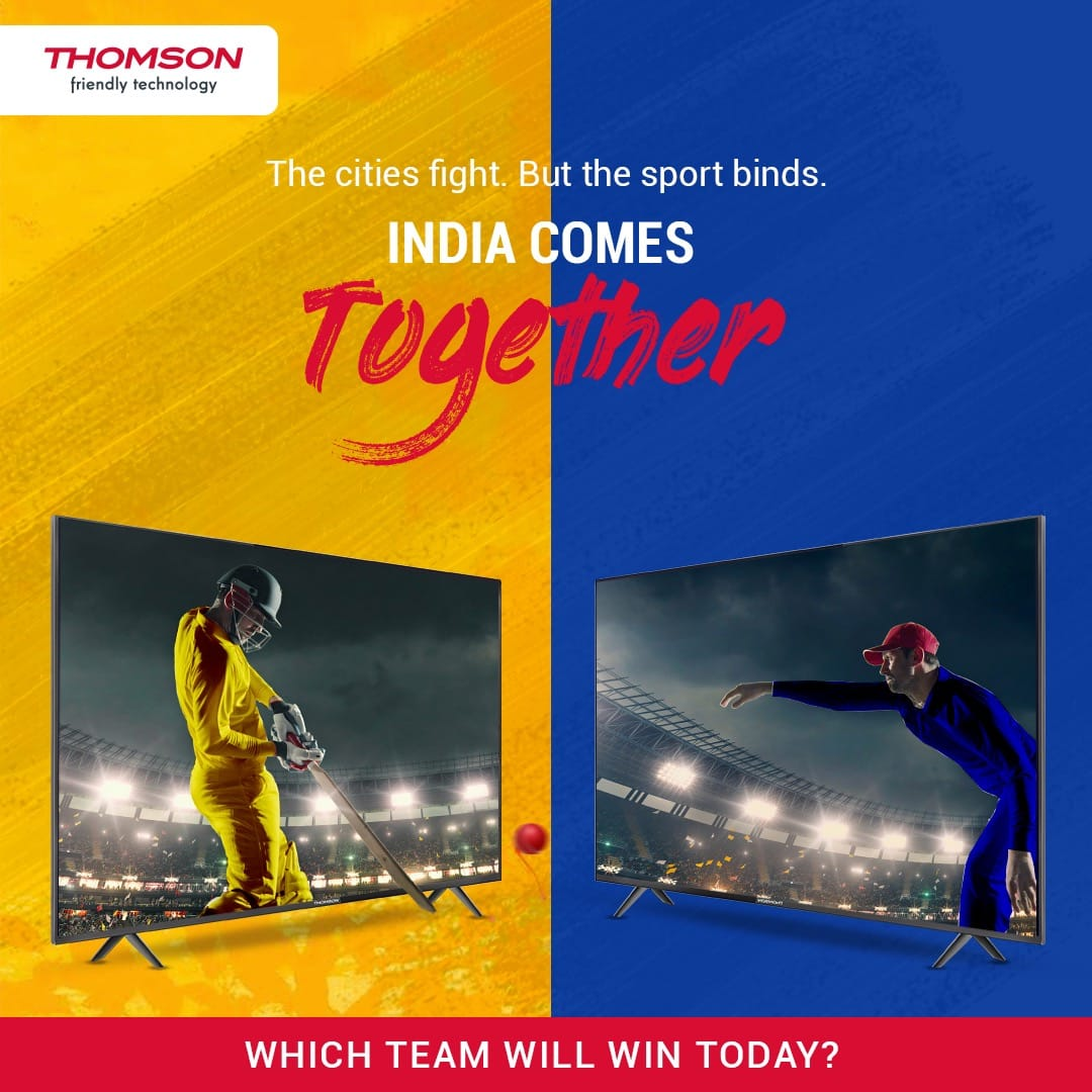 Doesn't matter who all fight, it's always the sport that wins!  Tell us which team will rule the match in today's exciting cricketing encounter. Comment or DM us and win exciting prizes. #ContestAlert #Cricket #T20 #Thomson https://t.co/sNt4OFGsu1