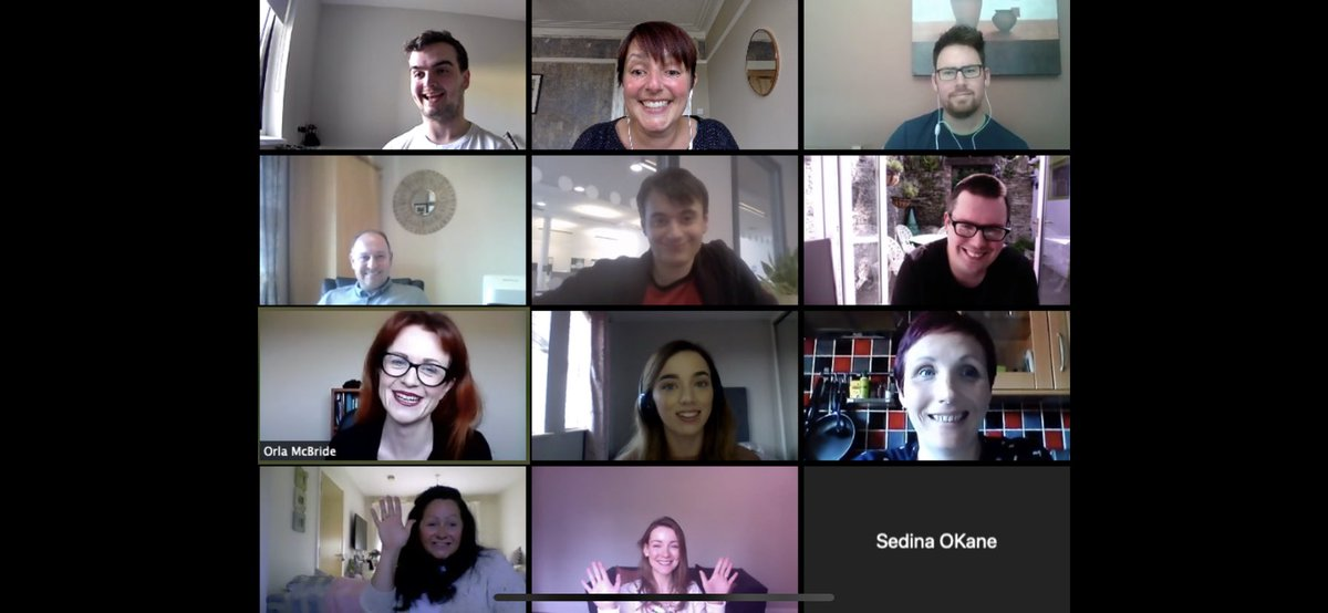 This week we (virtually) welcomed our new #PhD researchers and #MRes students. Look at these happy excited faces! #welcometotheteam @UlsterUniPhD https://t.co/07NVXb9ukg
